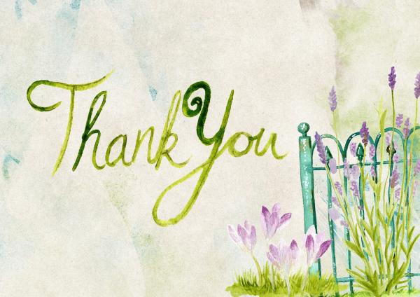 Thank You Watercolor
